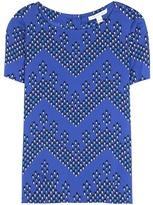 Diane von Furstenberg Maggy Printed Silk Top