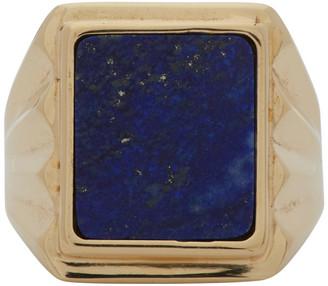Bottega Veneta Gold Lapis Lazuli Ring