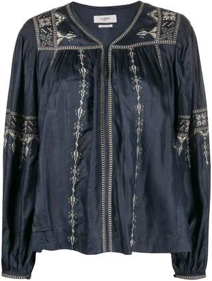 Etoile Isabel Marant Tullya embroidered blouse