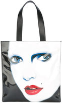 Jeremy Scott printed tote - women - Leather/Polyester - One Size