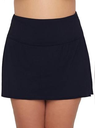 CoCo Reef Plus Size Classic Solids Skirted Bikini Bottom