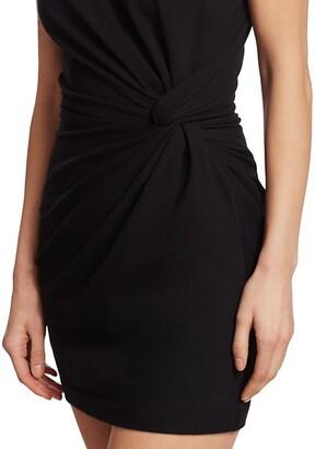 Alexander Wang Heavy Jersey Twist Detail T-Shirt Dress