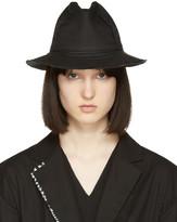 Yohji Yamamoto Black Linen Fedora