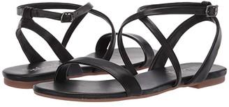 Splendid Susannah (Black Leather) Women's Sandals