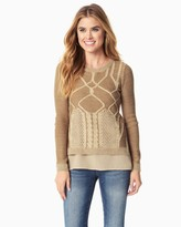 Charming charlie Cable Knit Layered Sweater