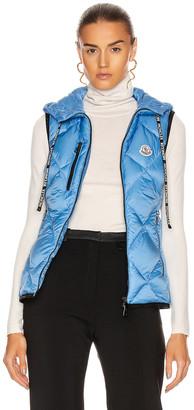 Moncler Sucrex Gilet Vest in Blue   FWRD