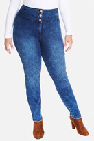 Fashion to Figure Corey Triple Button High Waist Jeans