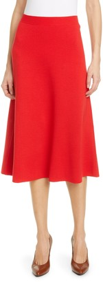 Gucci A-Line Wool Sweater Skirt