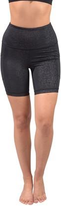 "90 Degree By Reflex Embossed High Rise Side Pocket 7"" Biker Shorts"