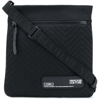 Versace Jeans Couture Embossed Logo Messenger Bag