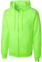 Clique Neon Green Fleece Zip-Up Hoodie - Unisex