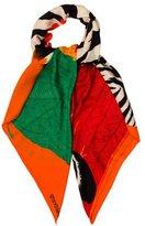Hermes Zebra Pegasus Silk Cashmere Shawl