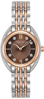 Bulova Diamonds Ladies' Two Colour Stone Set Bracelet Watch