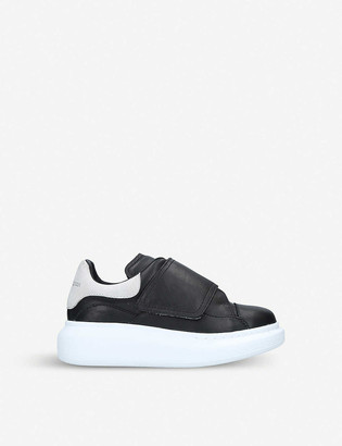 Alexander McQueen Kids Runway leather trainers 3-8 years
