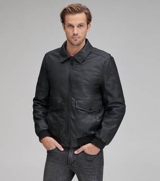 Andrew Marc Final Sale WESTERLY FAUX LEATHER BOMBER