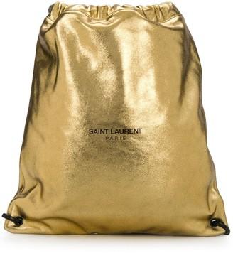 Saint Laurent Metallic-Effect Backpack