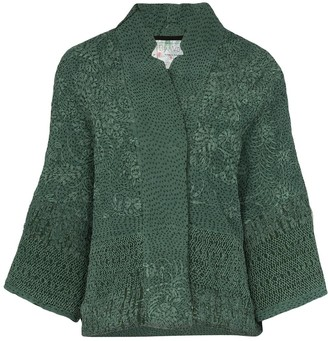 By Walid Embroidered Wide-Sleeve Jacket