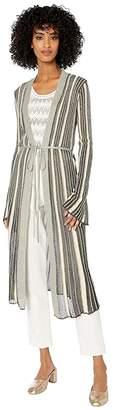 M Missoni Zoned Striped Long Cardigan
