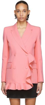 MSGM Pink Ruffle Short Dress