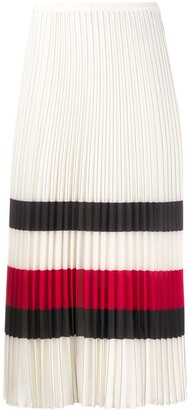 Tommy Hilfiger Pleated Mid-Length Skirt