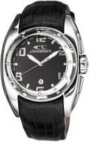 Chronotech Men's CT.7704M/11 Black Calfskin Band Watch.