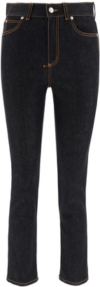 Alexander McQueen Slim Fit Cropped Jeans
