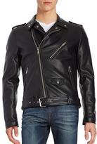 GUESS Faux Leather Biker Jacket