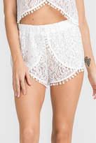 Lush White Lace Shorts