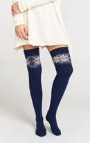 MUMU Snow Day Knee High Sock ~ Navy