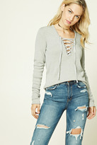 Forever 21 FOREVER 21+ Contemporary Lace-Up Sweater