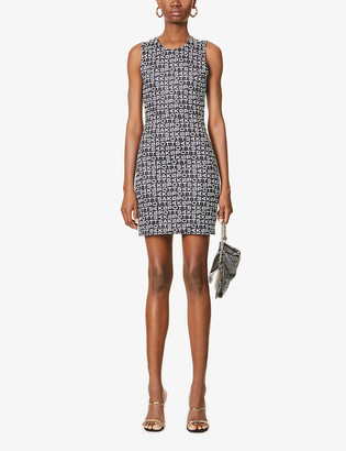 Saks Potts Vision logo-print stretch-woven mini dress
