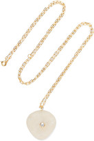 Cvc Stones Patmos 18-karat Gold, Stone And Diamond Necklace