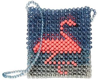 crewcuts by J.Crew Beaded Critter Crossbody Bag (Neon Carnation) Handbags