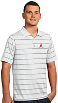 Antigua Men's Wisconsin Badgers Deluxe Striped Desert Dry Xtra-Lite Performance Polo