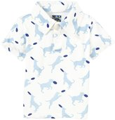 Kickee Pants Print Polo (Baby) - Natural Frisbee Labs-18-24 Months