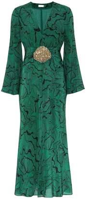 Rixo Indra embellished silk midi dress