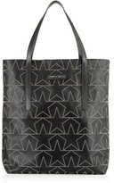 PIMLICO N/S Black Leather Tote Bag with Mini Stud Star Design