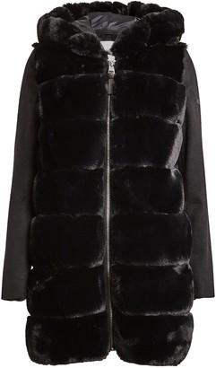 Derek Lam 10 Crosby Hooded Faux Fur Parka
