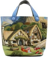 MonnaLisa Snow White Print Felt Tote Bag