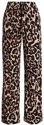 Baum und Pferdgarten Nu Leopard-Print Drawstring Pants
