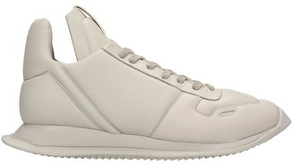 Rick Owens Maximal Runner Sneakers In Beige Leather
