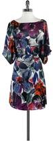 BCBGMAXAZRIA Floral Print Short Sleeve Dress