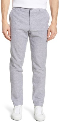 1901 Slim Fit Chambray Linen Blend Trousers
