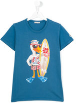 Moncler duck print T-shirt - kids - Cotton - 14 yrs