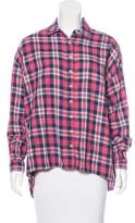 The Great Plaid Long Sleeve Button-Up Top
