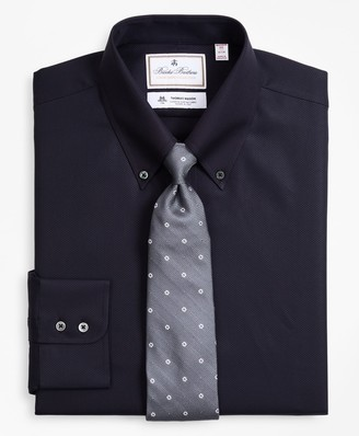 Brooks Brothers Luxury Collection Madison Classic-Fit Dress Shirt, Button-Down Collar Dobby Links