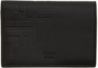 Fendi Black Forever Embossed Card Holder