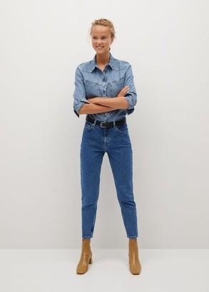 MANGO 100% Cotton Mom-fit jeans