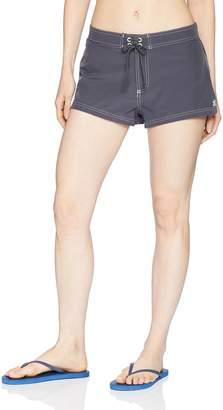 ZeroXposur Women's Plus Size Stretch Woven Short Bottom with Brief