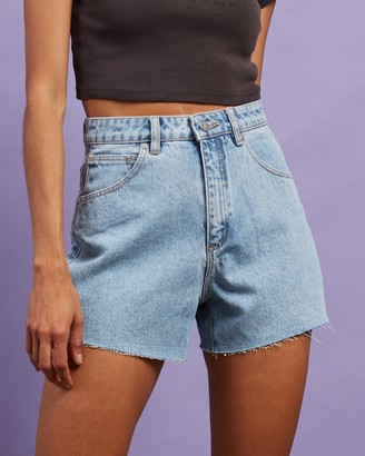 Abrand - Women's Blue Denim - A Venice Shorts - Size 9 at The Iconic